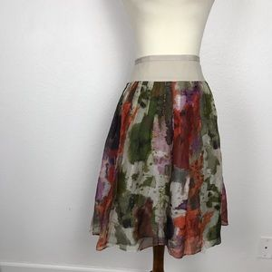 Anthropologie Edme & Esyllte Watercolor Skirt